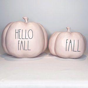 Rae Dunn Pink Pumpkins Set Of 2